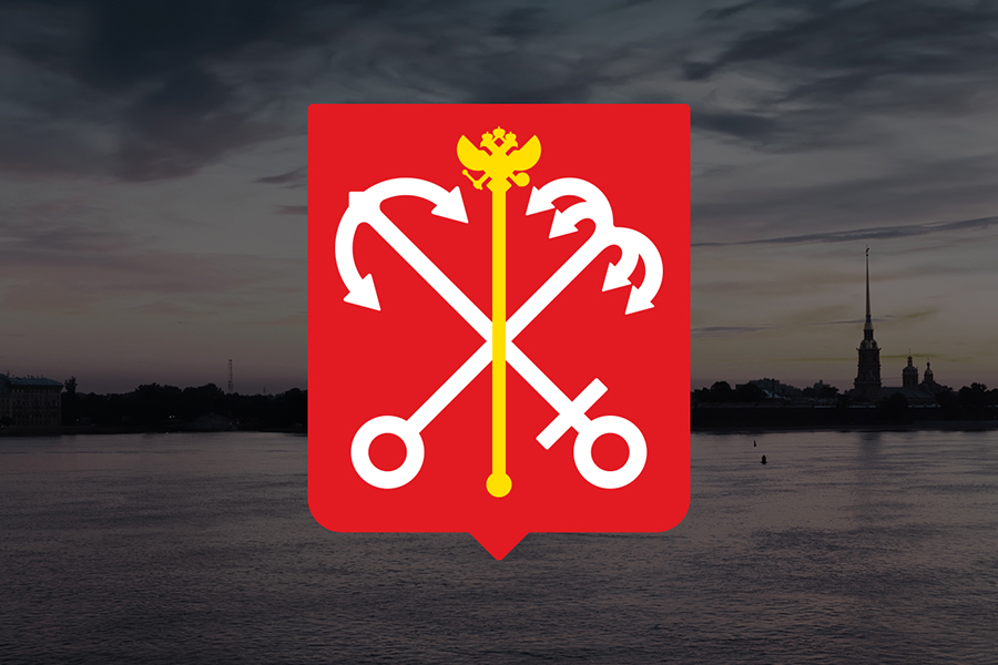 санкт-петербург герб вектор saint petersburg blazon vector