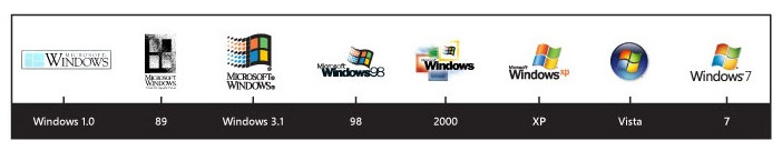 windows logo vector evolution version логотип вектор